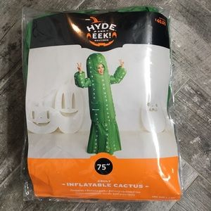 "Adult 75"" inflatable cactus Halloween costume"